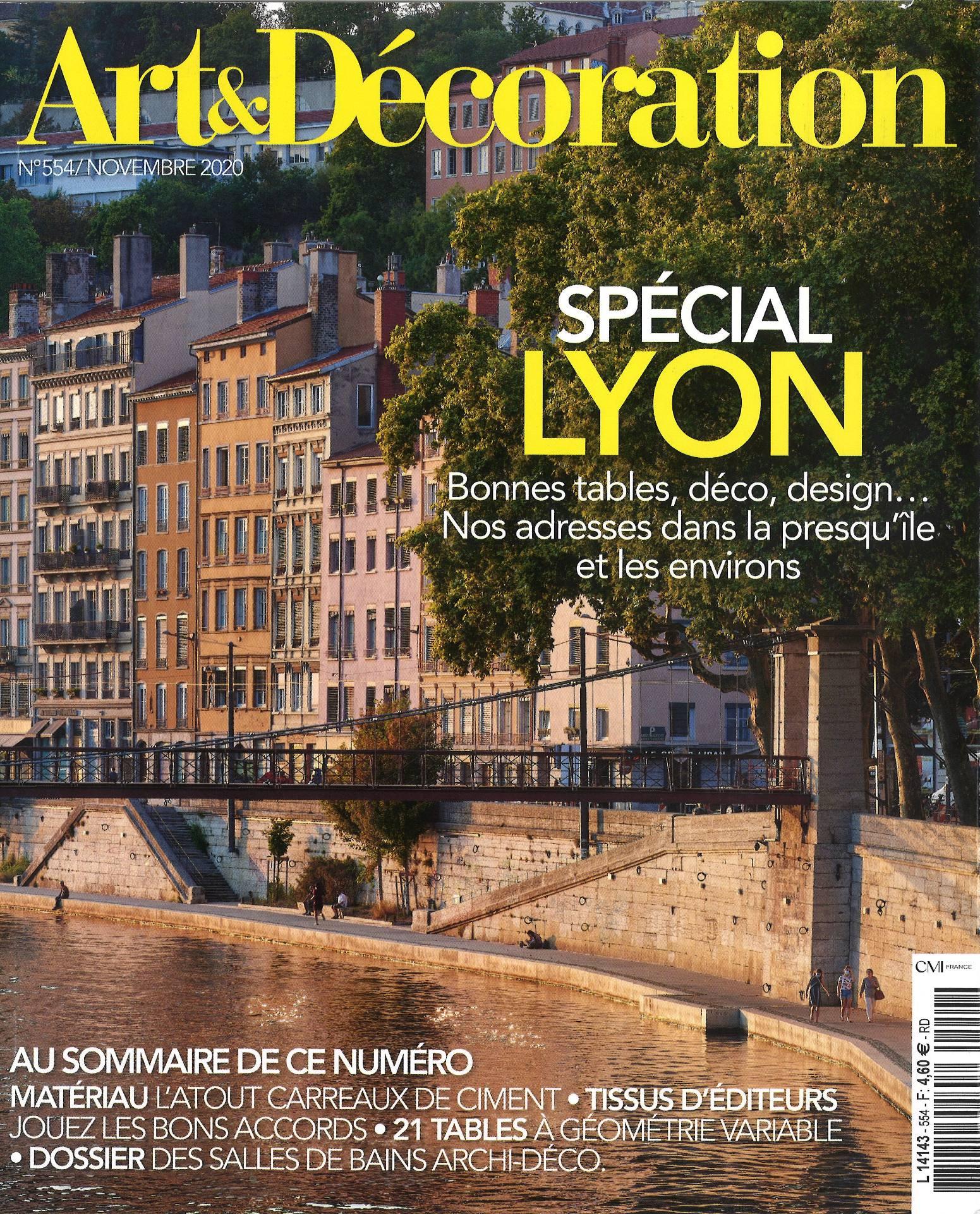 """Art et Décoration """"Spécial Lyon"""" - Novembre 2020"""