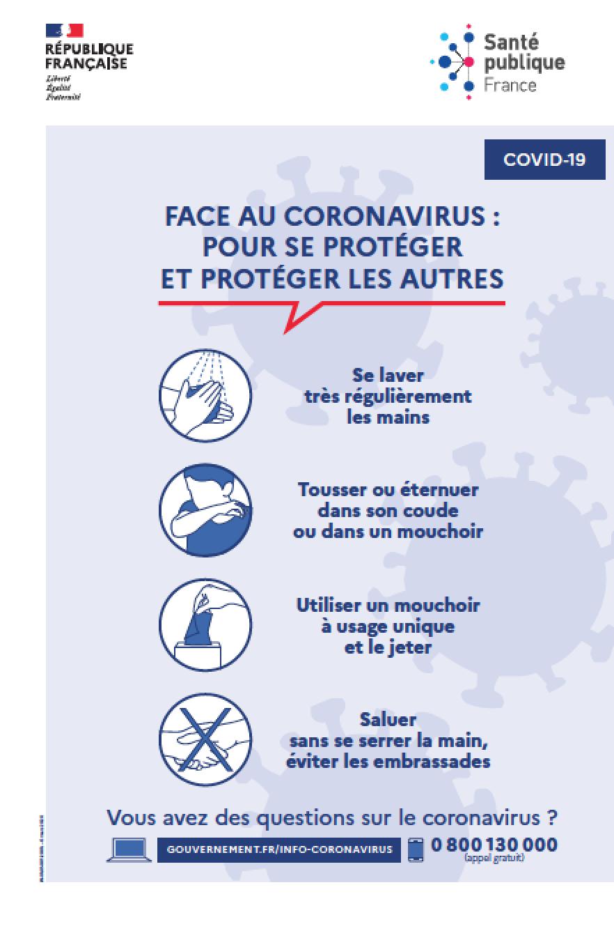 Affiche COVID 19 - Santé publique France