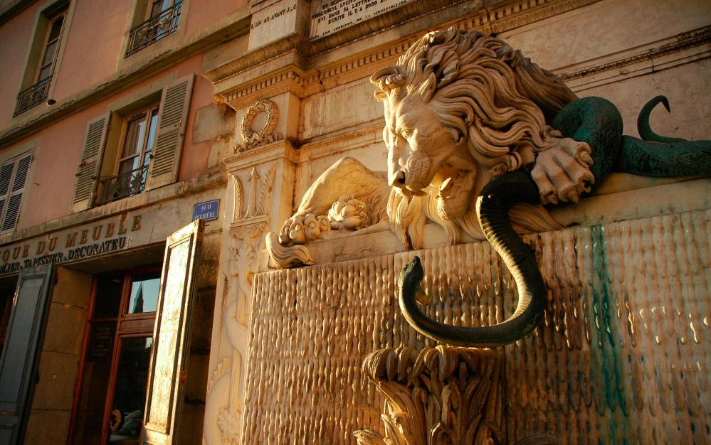 La Fontaine du Lion à Grenoble © Pierre Gayet