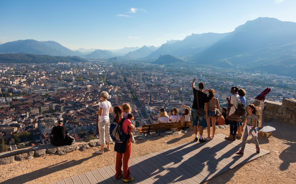 Vue depuis le Fort de la Bastille à Grenoble © Pierre Jayet