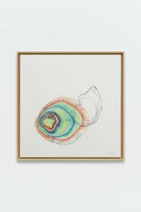 Guillaume Dégé Sans titre (Un grain de moutarde), 2019 Gouache sur papier chinois marouflé sur toile - 68.5 × 67.5 cm
