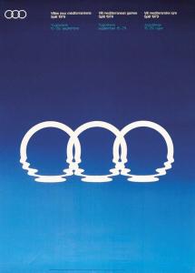 Jeux Méditerranéens, logo des Jeux de Split, 1979, création Boris Ljubičić © Fonds Boris Ljubičić et Musée des sports de Croatie
