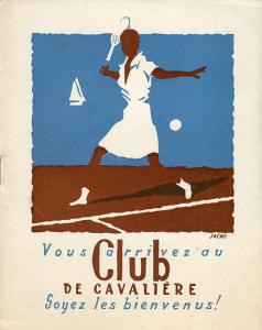3 ephemera. Club de Cavalière, signature de Raymond Vidal  © Fonds Eric Pascalis