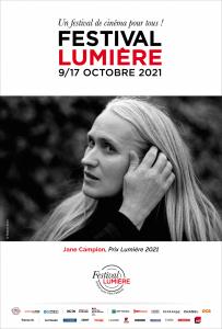 Affiche officielle Festival Lumière 2021 - Prix Lumière Jane Campion portrait par Partick Swirc