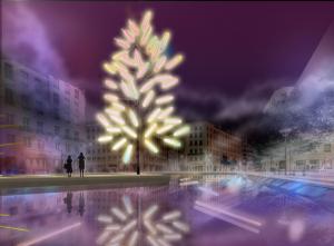 """""""Big Tree"""", Jacques Rival - Place de la République - Fête des Lumières 2018"""