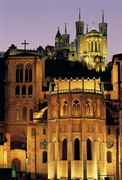 Basilique de Fourvière et Cathédrale Saint-Jean © Tristan Deschamps