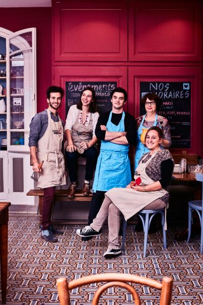 Les Petites Cantines Perrache: Bertrand, Marie, Barthélémy, Anne et Isabelle © clairepayen