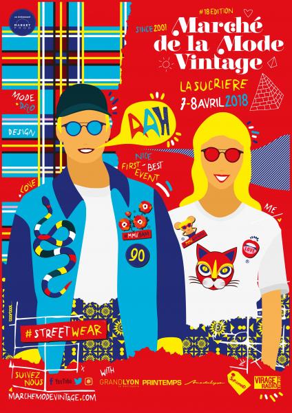 Affiche du Marché de la Mode Vintage