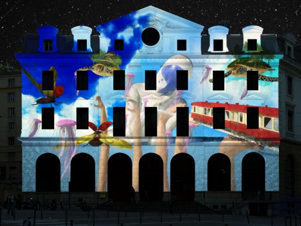 Daydreams, par Flshka Design - Fête des Lumières 2019, gare Saint-Paul
