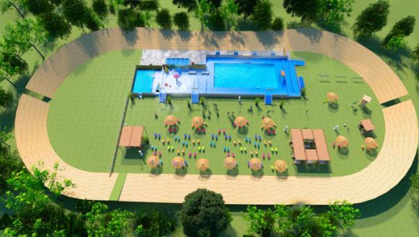La piscine éphémère du parc de la Tête d'Or