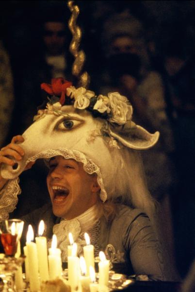 Tom Hulce, dans Amadeus de Milos Forman © Saul Zaentz
