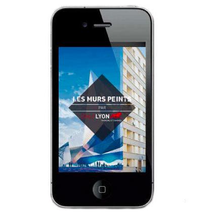 Appli Mobile Murs Peints de Lyon