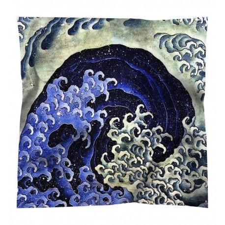 Carré de soie Hokusai Vague féminine / Brochier Soieries