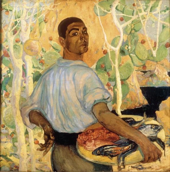 Roberto Montenegro (Guadalajara[Mexique], 1881 - Mexico, 1968), Pescador de Mallorca, 1915, huile sur toileMexico, INBA / Museo Nacional de Arte