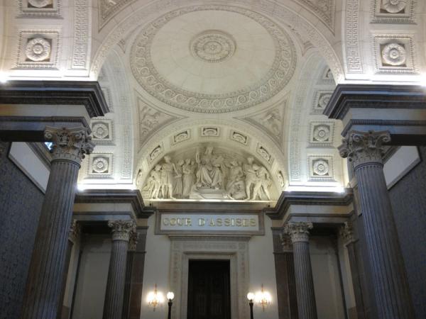 Vue intérieure du Palais de Justice historique de Lyon