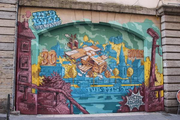 Street Art sur les pentes de la Croix-Rousse © LV