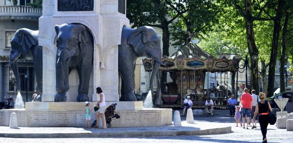 Fontaine des éléphants © Office du Tourisme de Chambéry