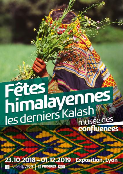"""Affiche de l'exposition """"les derniers kalash, Fêtes himalayennes"""" au Musée des Confluences"""