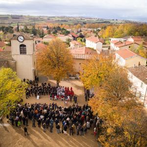 Cérémonie du 11 Novembre à Solaize © Nicolas BENNEGENT