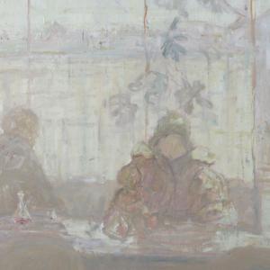Jacques Truphémus, Au Café, 1975. Musée des Beaux-Arts de Lyon. Droits réservés. Image © Lyon MBA - Photo Alain Basset