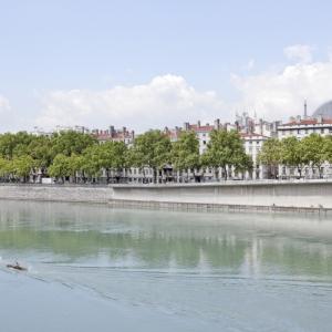 Quais du Rhône, vue sur l'Opéra - photo Brice Robert/ Aderly