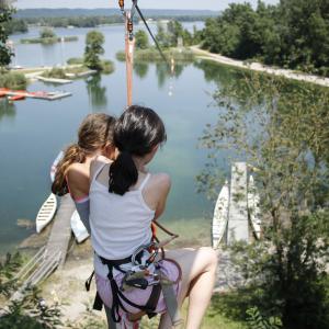 Tyrolienne au Grand Parc - Mathilde ANDRÉ / Abi/ Abo