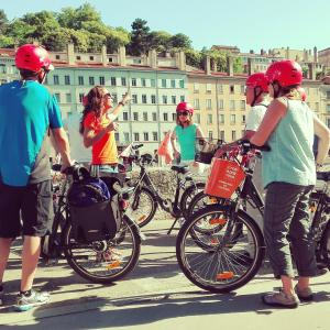 Visite guidée à vélo électrique © Lyon Bike Tour
