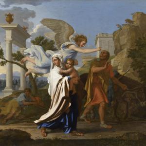 La Fuite en Egypte de Nicolas Poussin, Musée des Beaux-arts de Lyon