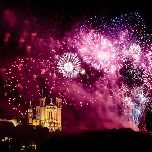 Le feu d'artifice du 14 juillet à Lyon © www.b-rob.com