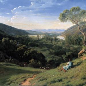 Paul Flandrin, Sur les bords du Rhône près de Vienne, 1855 © Lyon MBA - Photo : Alain Basset