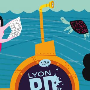 L'affiche de cette 13e édition du Lyon BD Festival est réalisée par Pénélope Bagieu.