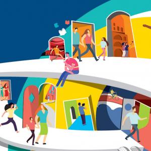 Affiche des Journées européennes du Patrimoine 2020 dans le Grand Lyon