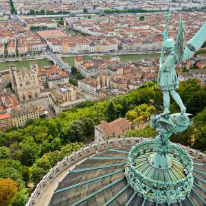 Vue sur Lyon de Fourvière - copyright Gaël Fontaine
