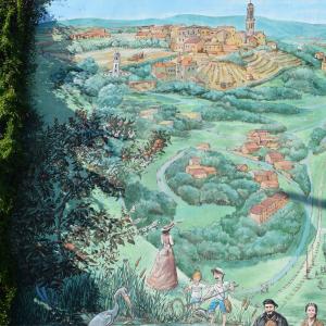 Fresque histoire et identité d'Irigny © Services de la Mairie d'Irigny