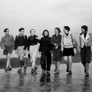 Jeunes marcheurs pendant la seconde Guerre © Jamet / CHRD
